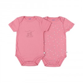 Body (lot de 2) US manches courtes rose orchidée - Noukies