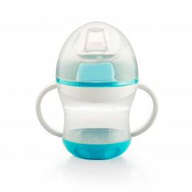 Tasse anti-fuite avec couvercle turquoise - Thermobaby