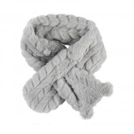 Echarpe grise en groloudoux - Noukies