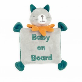 "Peluche chat à ventouse ""Baby on Board"""