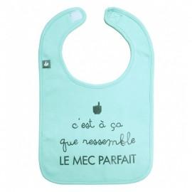 """Bavoir """"le mec parfait"""" vert mint - BB&CO"""