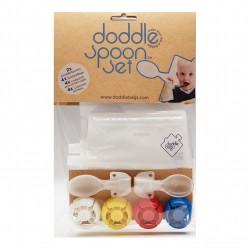 Gourdes réutilisables avec cuillères à visser (Doddle Spoon Set)