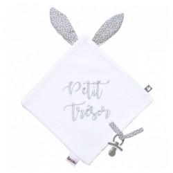 """Doudou lapin velours """"Petit Trésor"""" - BB&Co"""