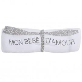 """Lange carré de coton """"Mon bébé d'amour"""" - BB&CO"""