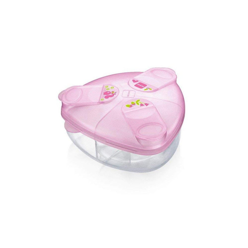 Boîte doseuse de lait rose - MAM