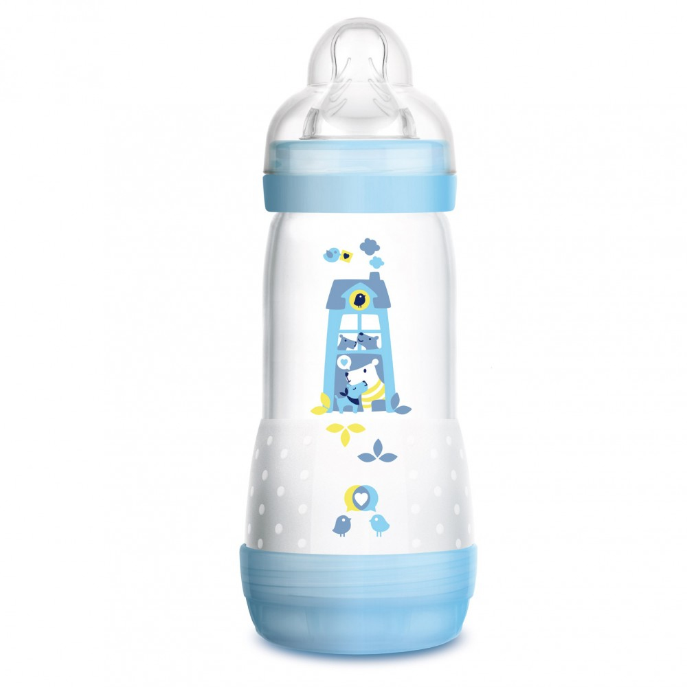 Biberon Easy Start anti-colique 320 ml bleu - MAM