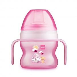 Tasse à bec souple 150 ml coloris rose - MAM