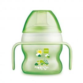 Tasse à bec souple 150 ml coloris vert - MAM