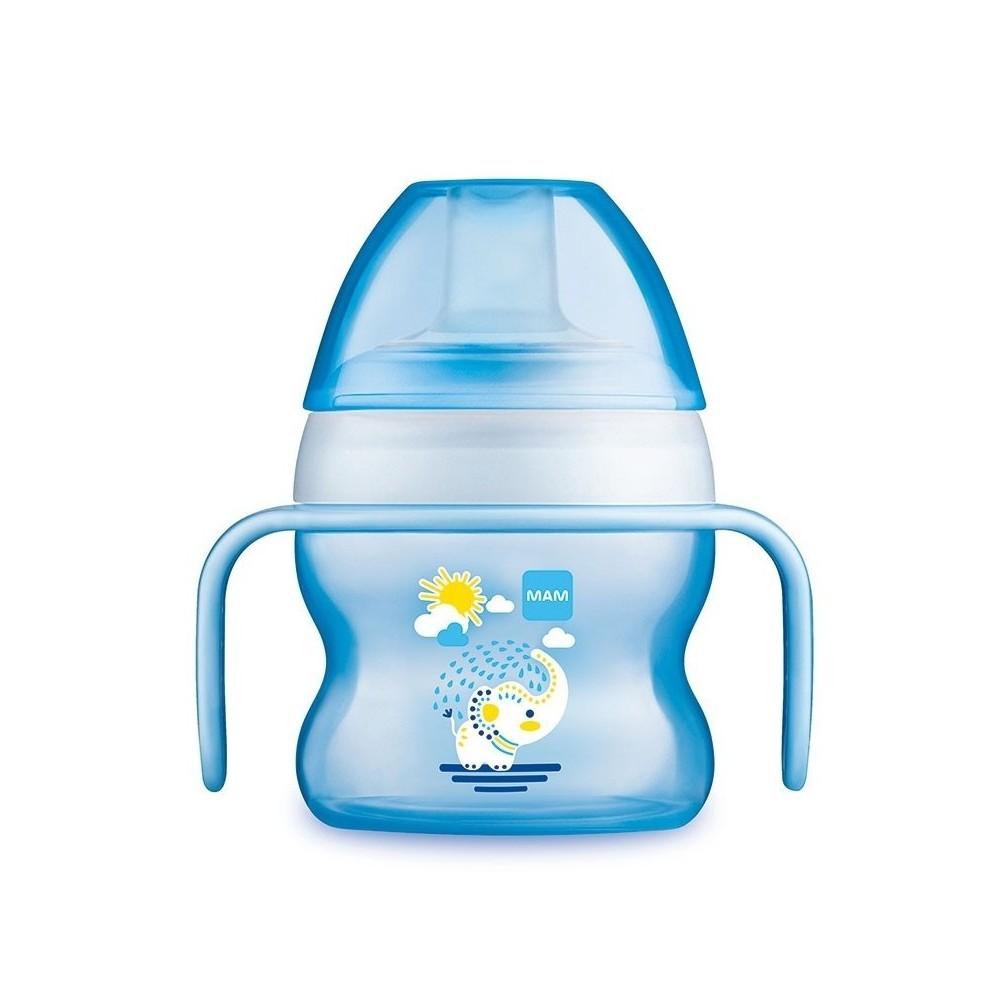 Tasse à bec souple 150 ml coloris bleu - MAM 6093394