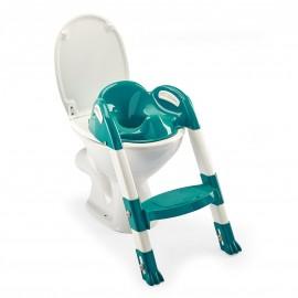 Réducteur de WC Kiddyloo vert émeraude/blanc - Thermobaby