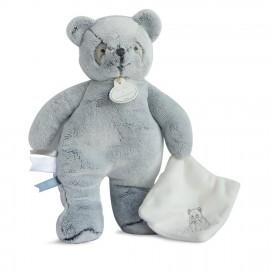 Panda pantin gris avec doudou - Doudou et Cie