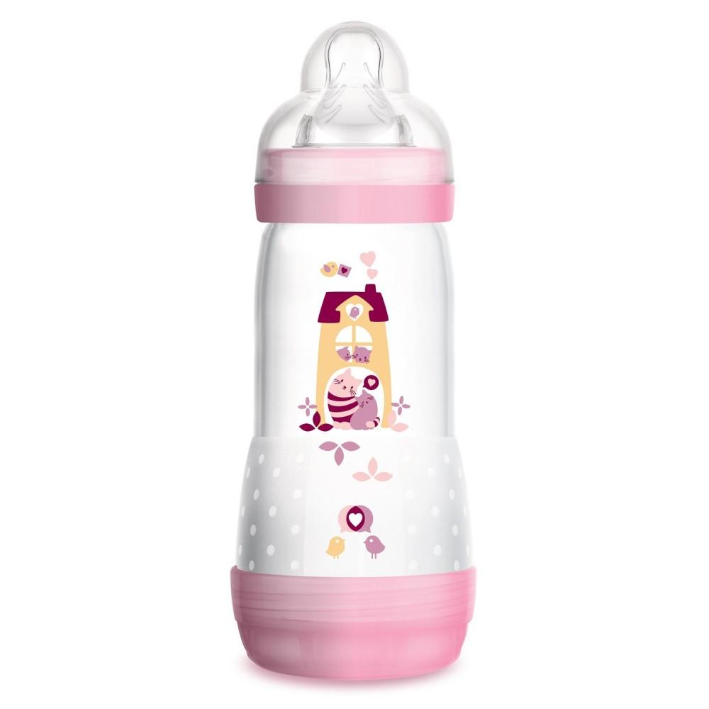 Biberon Easy Start anti-colique 320 ml rose - MAM