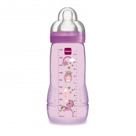 Biberon Easy Active 2ème âge 330 ml rose - MAM 6044608