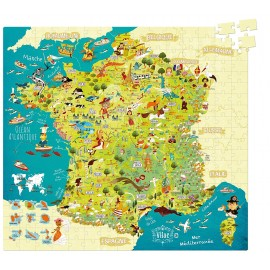 Puzzle Carte des merveilles de France 300 pièces - Vilac
