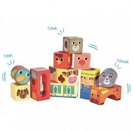Cubes sonores de la ferme - Vilac