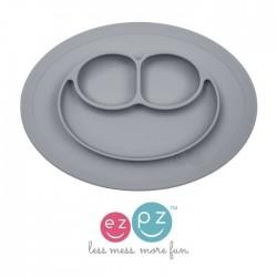 Assiette antidérapante grise en silicone - AZPZ