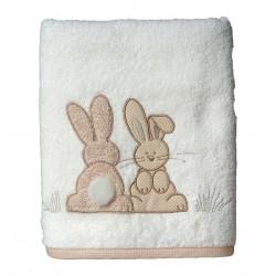 Serviette de toilette éponge Pompon le lapin - Sensei