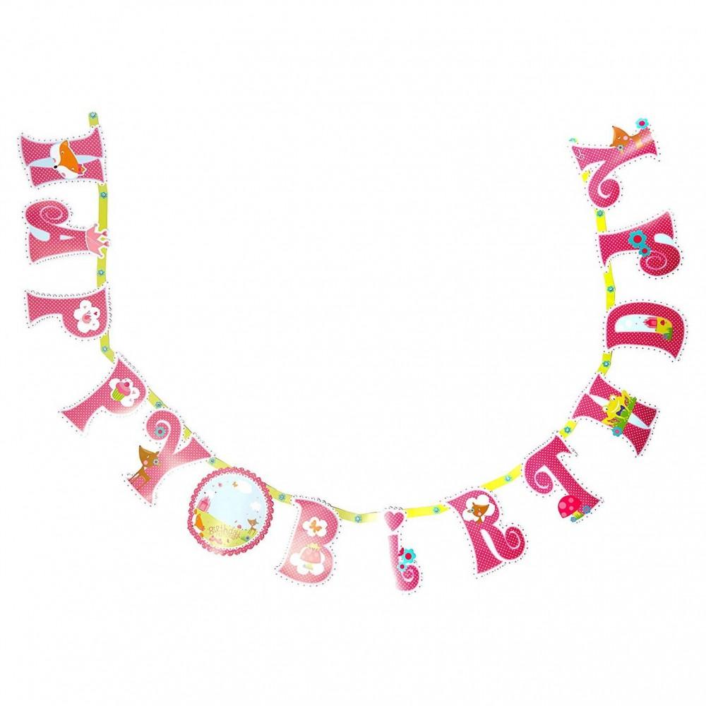 Banderole anniversaire  personnalisée motif Princesse