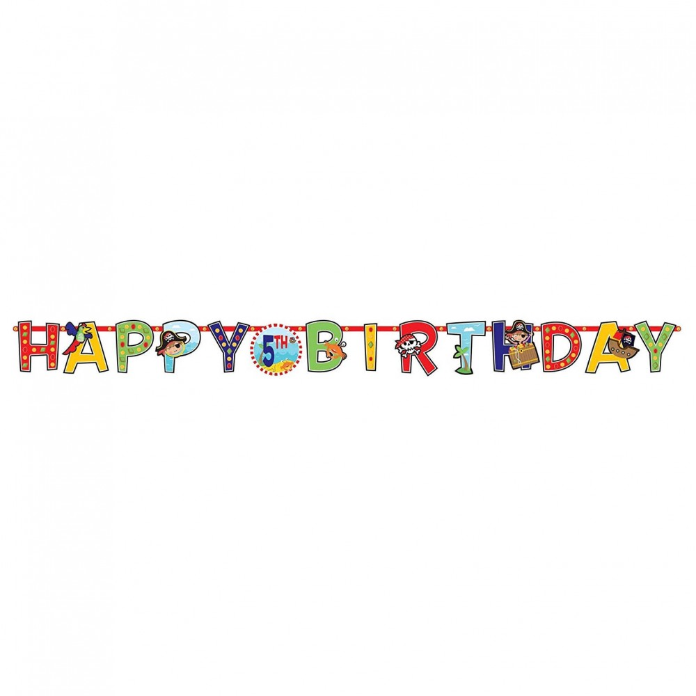 Banderole anniversaire personnalisée motif Pirate