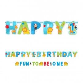 Banderole anniversaire  personnalisée motif Jungle