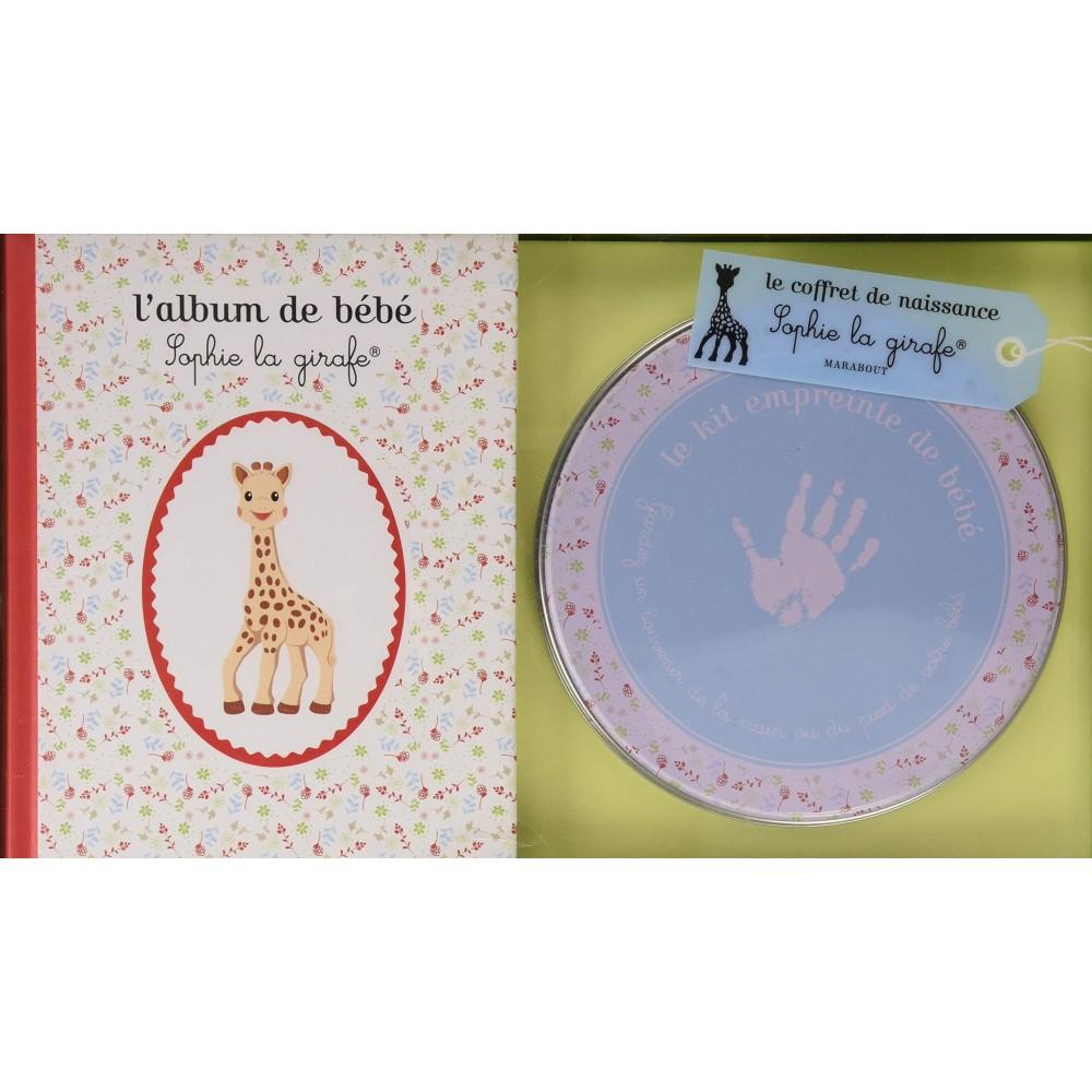 Kit d'empreinte + album de bébé Sophie la girafe - Marabout