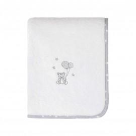 Serviette de toilette éponge - Baby Soft ourson gris - Sensei