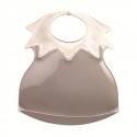 Bavoir arlequin récupérateur ivoire col taupe - Thermobaby