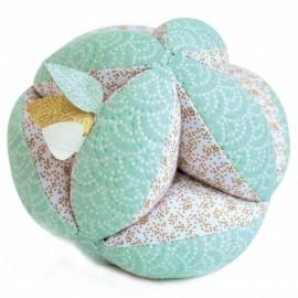 Balle sensorielle avec hochet - vert - Lapin de Sucre - Doudou et Compagnie