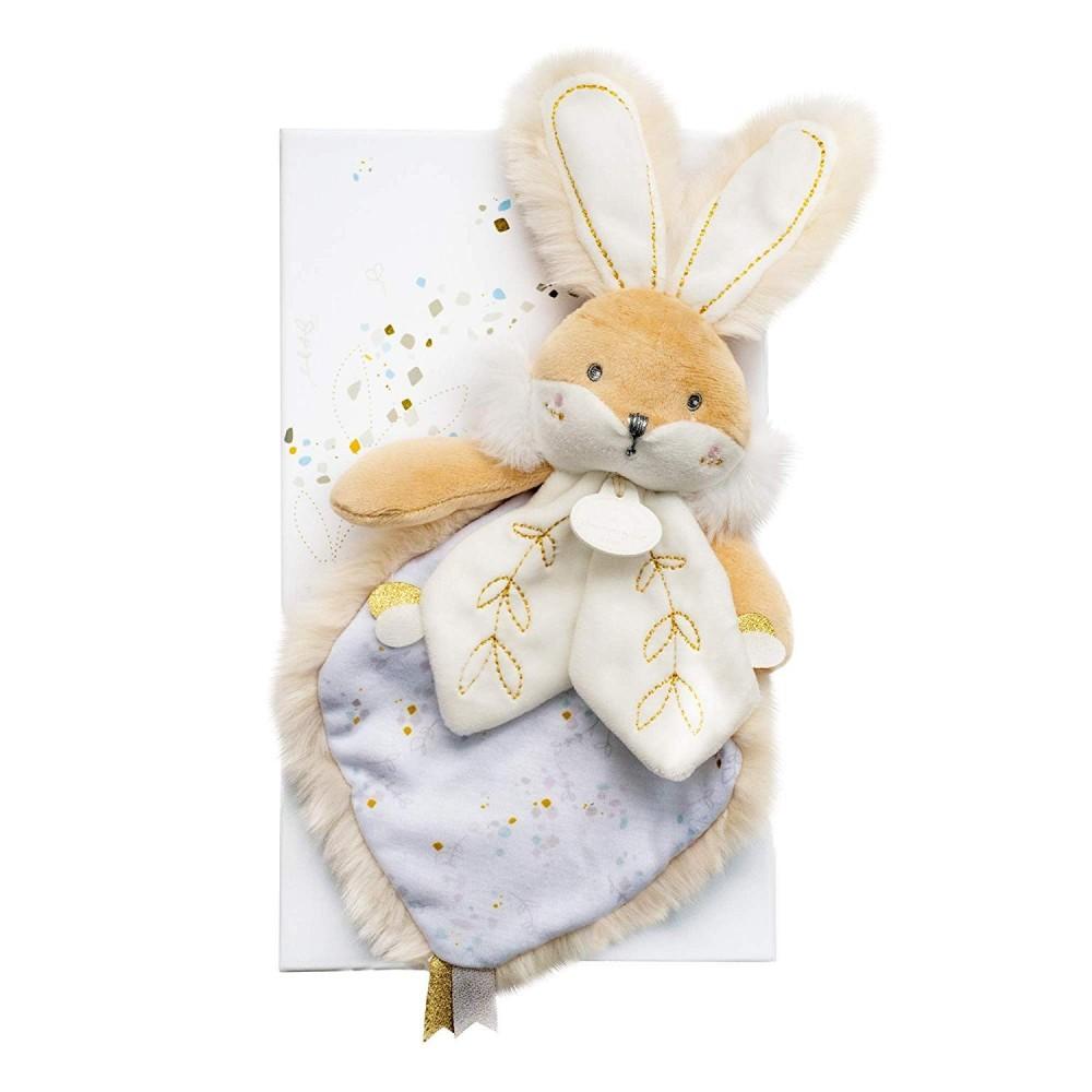 Doudou blanc/beige - Lapin de sucre - Doudou et Cie