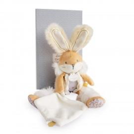 Doudou Pantin - Lapin de sucre - Blanc beige - Doudou et Cie