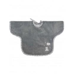 Bavoir éponge à manches - Babysoft ourson - gris - Sensei