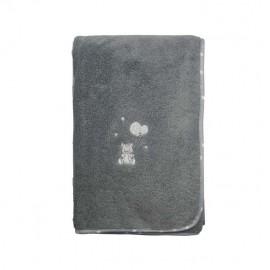 Serviette de toilette éponge - Baby Soft ourson - gris - Sensei
