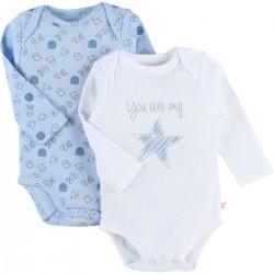 Body US ML - Bleu et blanc - (lot de 2) 12 mois - Noukies