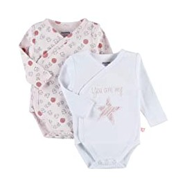 Body US ML - Rose et blanc - (lot de 2) 12 mois - Noukies