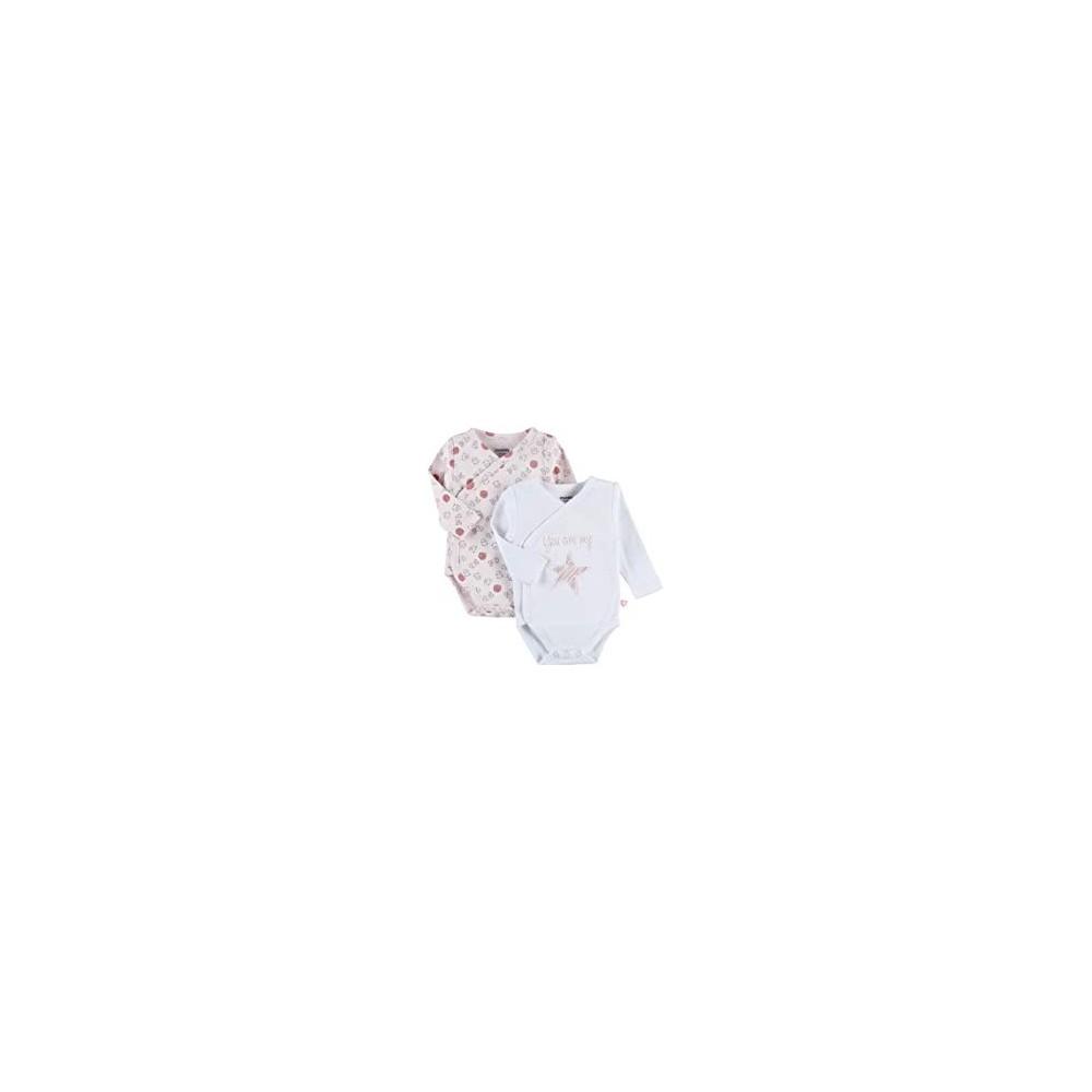 Body US ML - Rose et blanc - (lot de 2) 12 mois - Noukies