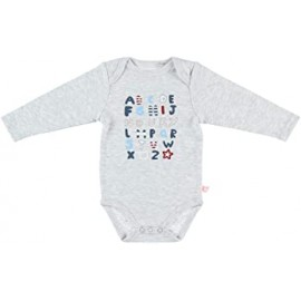 Body US ML - Gris alphabet - 12 mois - Noukies