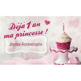 Mon 1er  Anniversaire de Petite Princesse