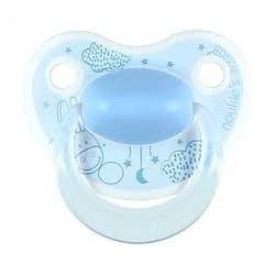 Sucette 6 - 16 mois silicone l'âne Paco bleu - Noukies