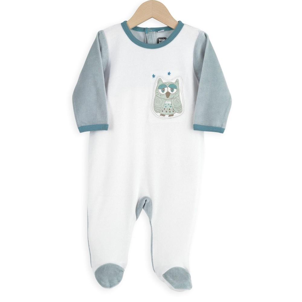 Pyjama Dors bien 12 mois - Hibou - 3 kilos 7