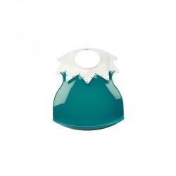 Bavoir arlequin récupérateur - Émeraude col ivoire - Thermobaby