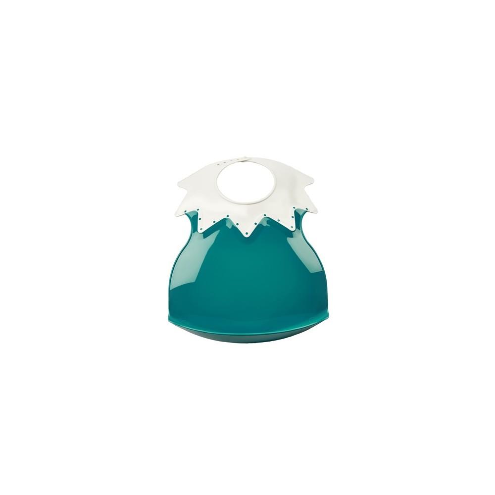 Bavoir arlequin récupérateur - Ananas col ivoire - Thermobaby
