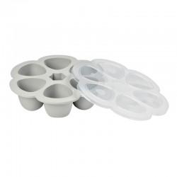 Multi-portions 6 x 90 ml en silicone - Coloris Light Mist - Béaba