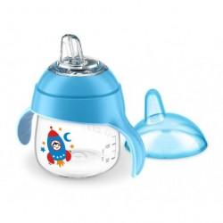 Tasse à bec souple bleu 200 ml - Avent