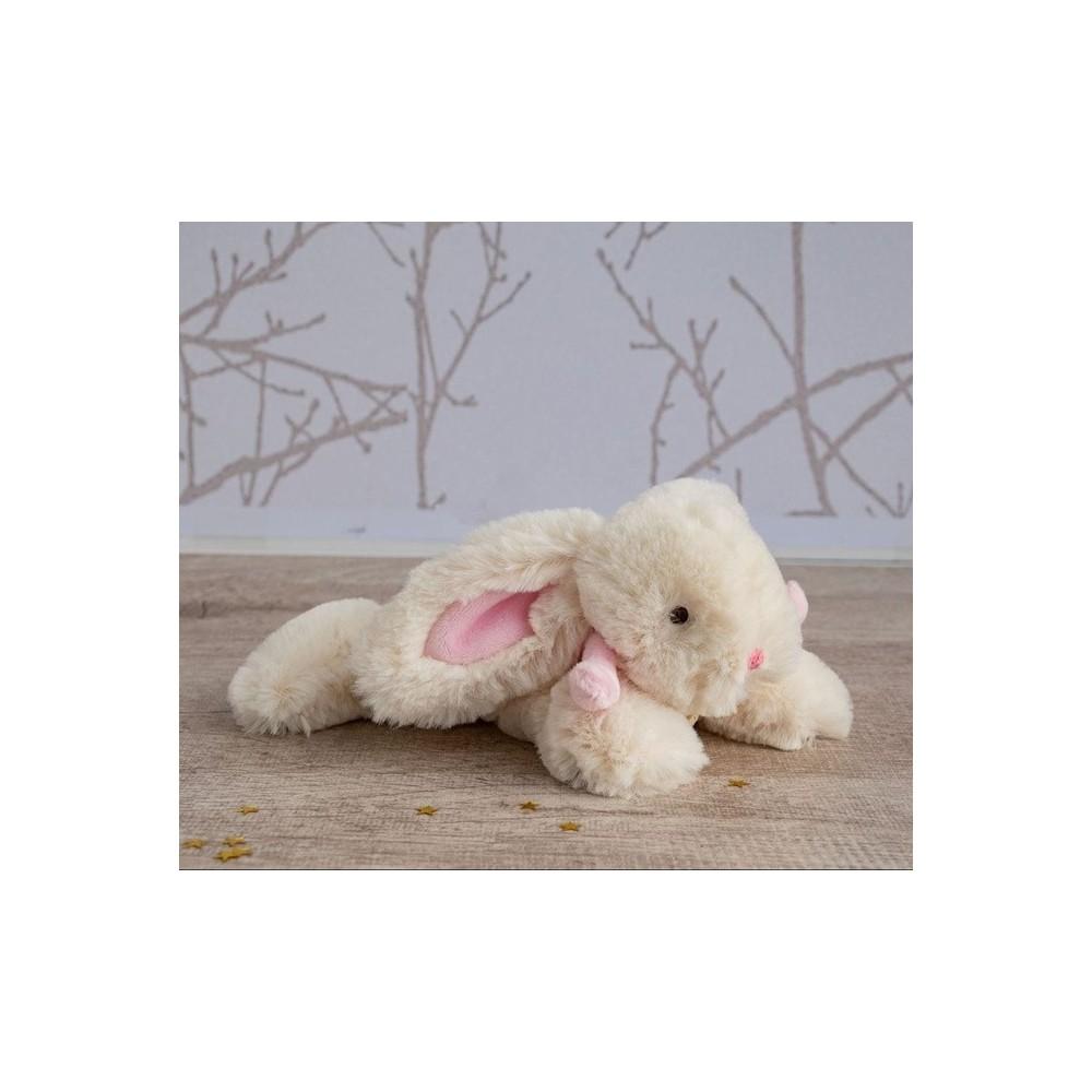 Lapin rose bonbon 20 cm - Doudou et Compagnie