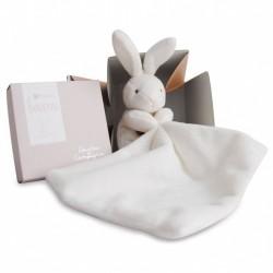 Doudou Mouchoir - Lapin boîte fleur - Nature - Doudou et Cie