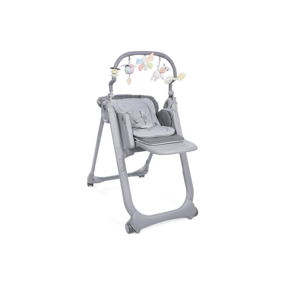 Chaise Haute Polly Magic Relax - 4 roues - Graphite - Chicco