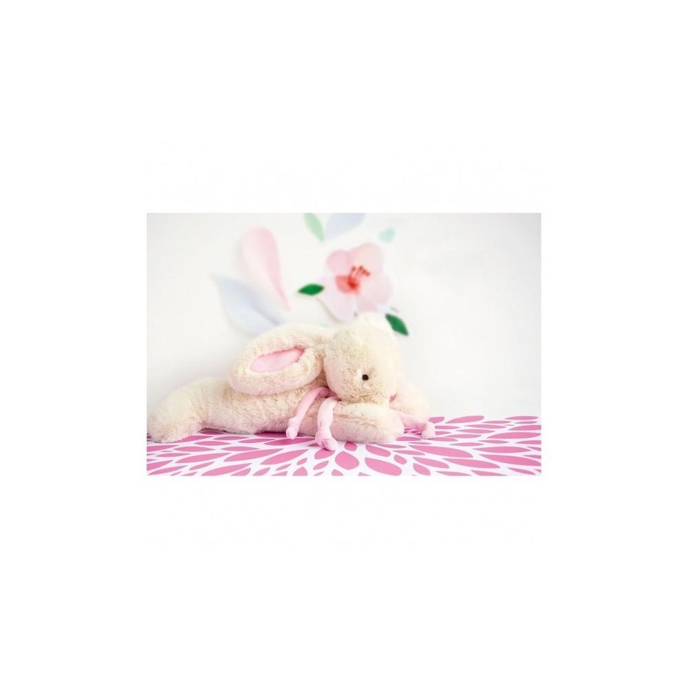 Lapin bonbon rose 30 cm - Doudou et Cie