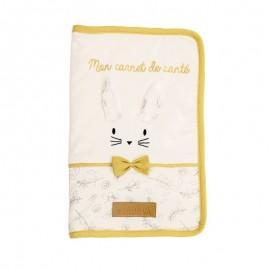Housse de carnet de santé - Leafy Bunny - Coton Bio - Domiva