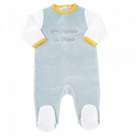 Pyjama Dors bien 9 mois - 8ème Merveille du Monde - 3 kilos 7