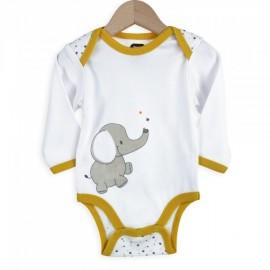 Body manches longues 100% coton - 23 mois - Éléphant - 3 kilos 7